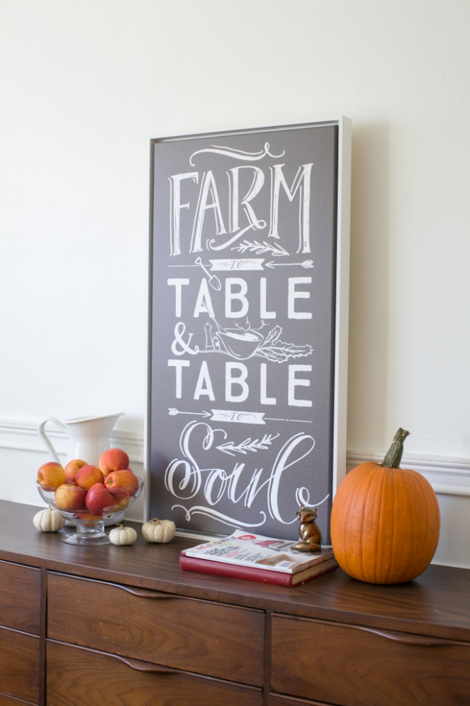 Lindsay Letters Farm to Table Canvas